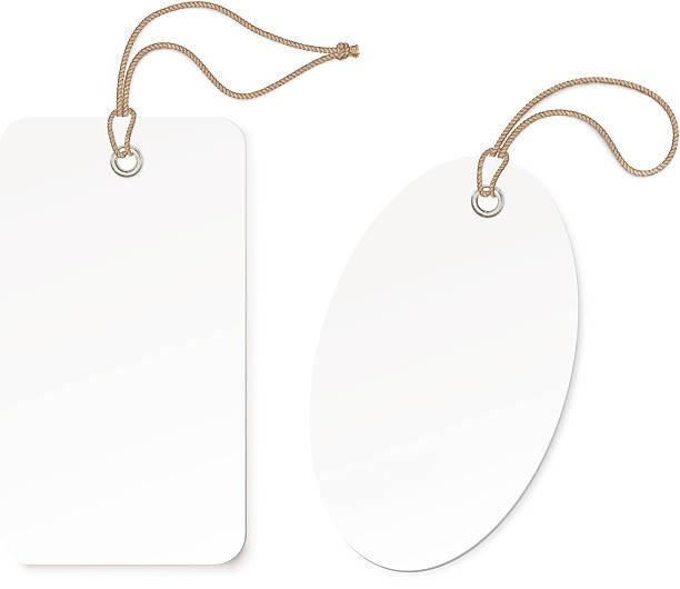 etykieta (tag) na białym tle.  ilustracja wektorowa - sznurek stock illustrations