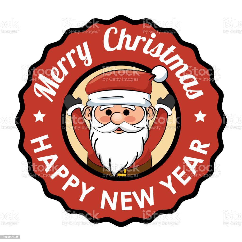 label merry christmas happy new year happy santa royalty free label merry christmas happy new