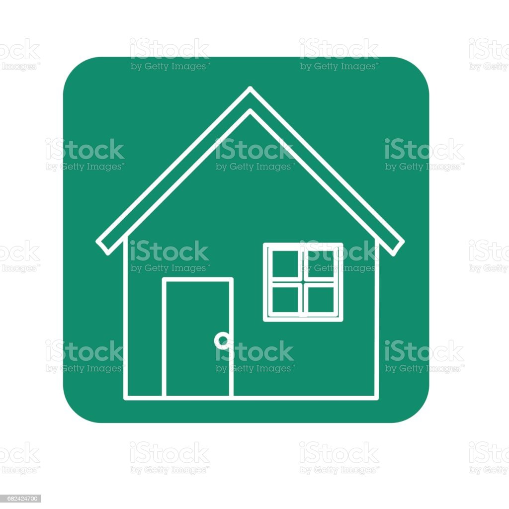 label nice house with door, window and roof royalty-free label nice house with door window and roof stock vector art & more images of apartment