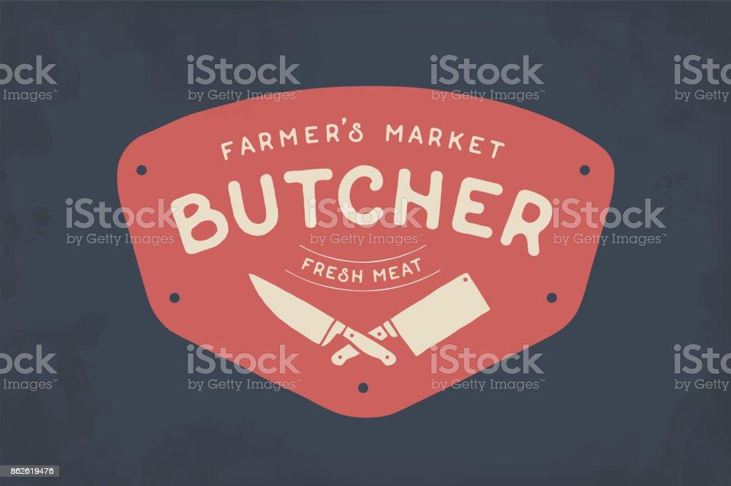 Étiquette de boucherie de viande - Illustration vectorielle