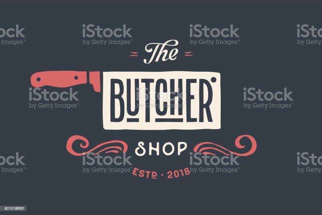 Étiquette de boucherie charcuterie - Illustration vectorielle