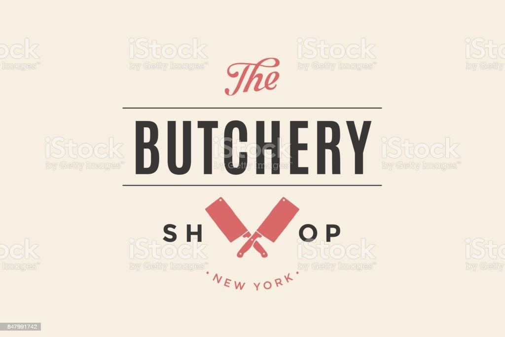 Label Of Butchery Meat Shop Royalty Free Stock Vector Art
