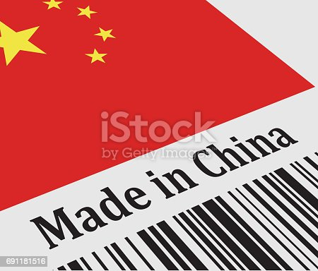 istock Label of Made in China 691181516