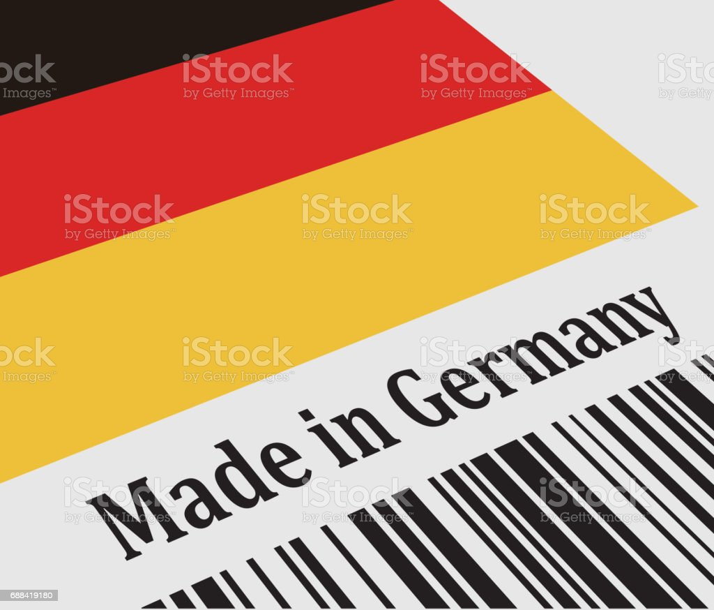 Label of Made in Germany vector art illustration