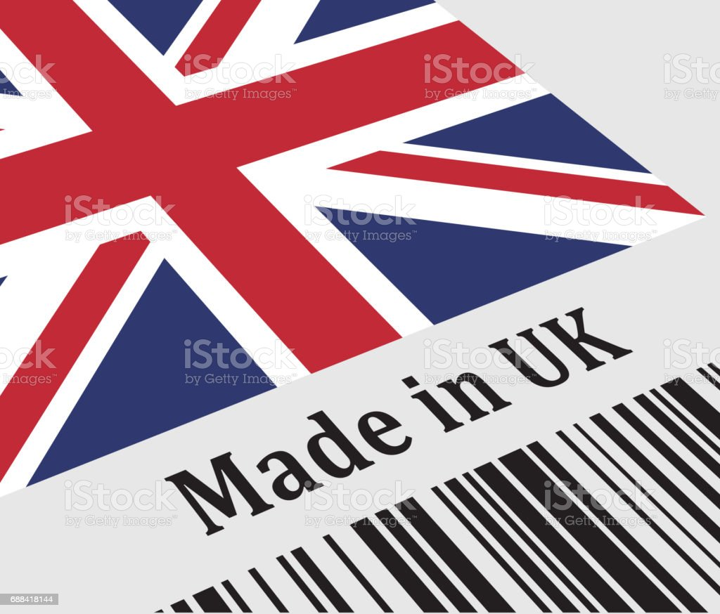 Label of Made in UK vector art illustration