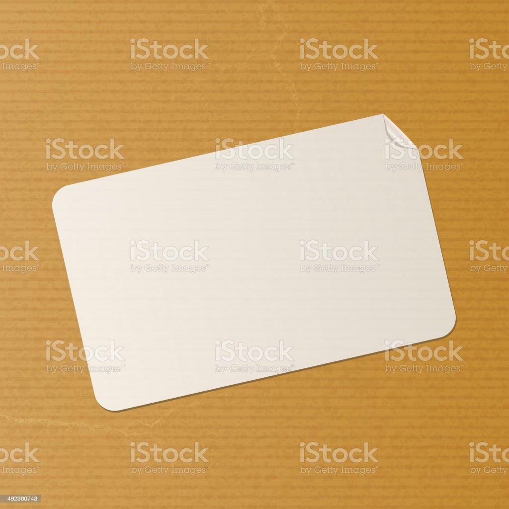 label on brown paper background vector art illustration