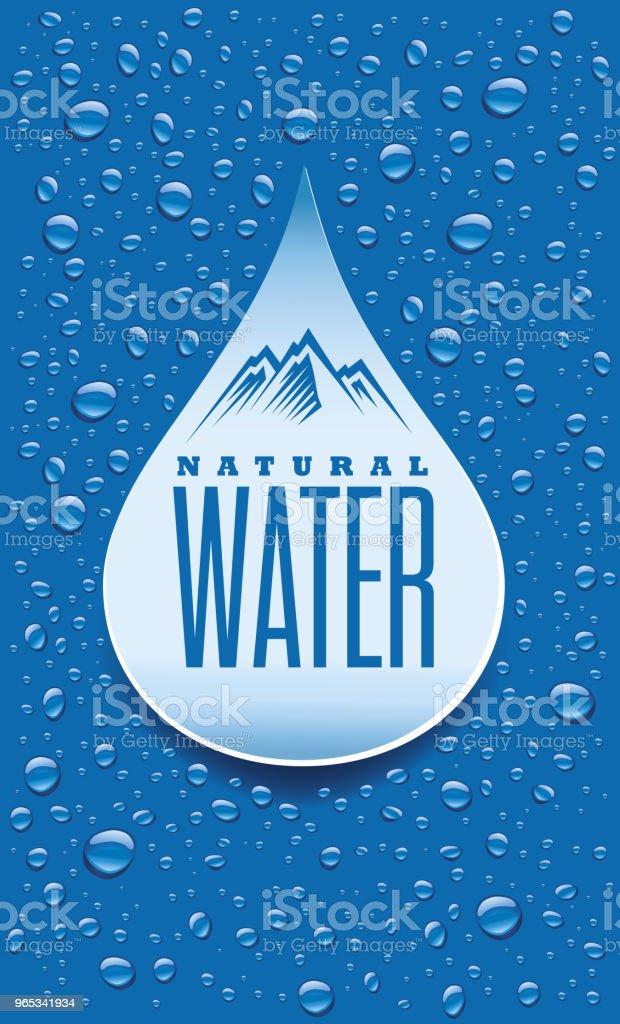 Label package design for mineral water with many water drops label package design for mineral water with many water drops - stockowe grafiki wektorowe i więcej obrazów biały royalty-free
