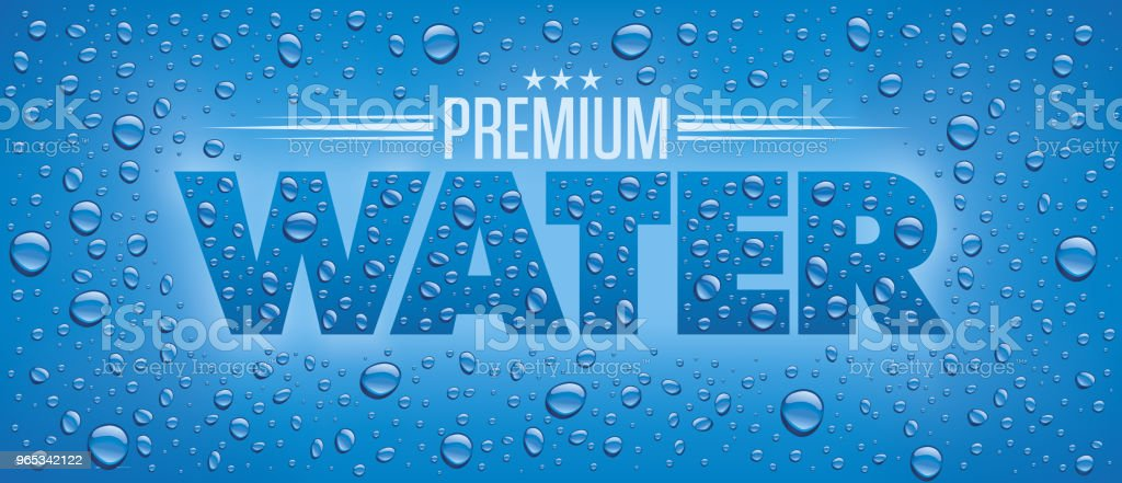 Label package design for mineral water with many water drops royalty-free label package design for mineral water with many water drops stock vector art & more images of art