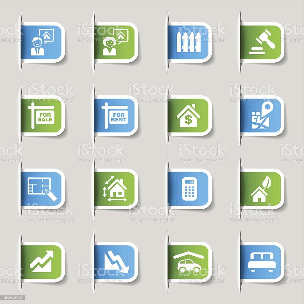 Label - Real Estate Icons vector art illustration