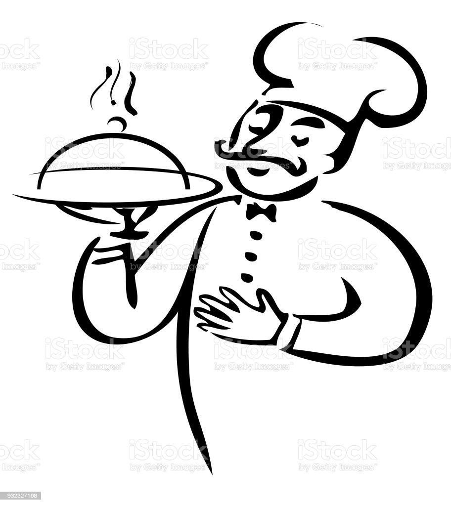 Ilustración de Restaurante De Etiqueta Alimentos Vector ...