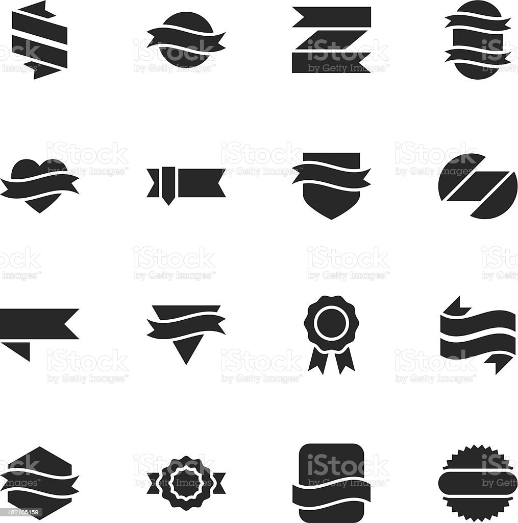 Label Silhouette Icons | Set 3 royalty-free stock vector art