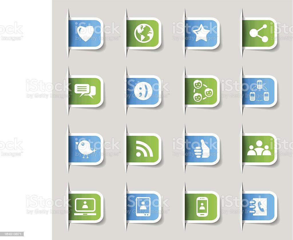 Label - Social Media Icons royalty-free stock vector art