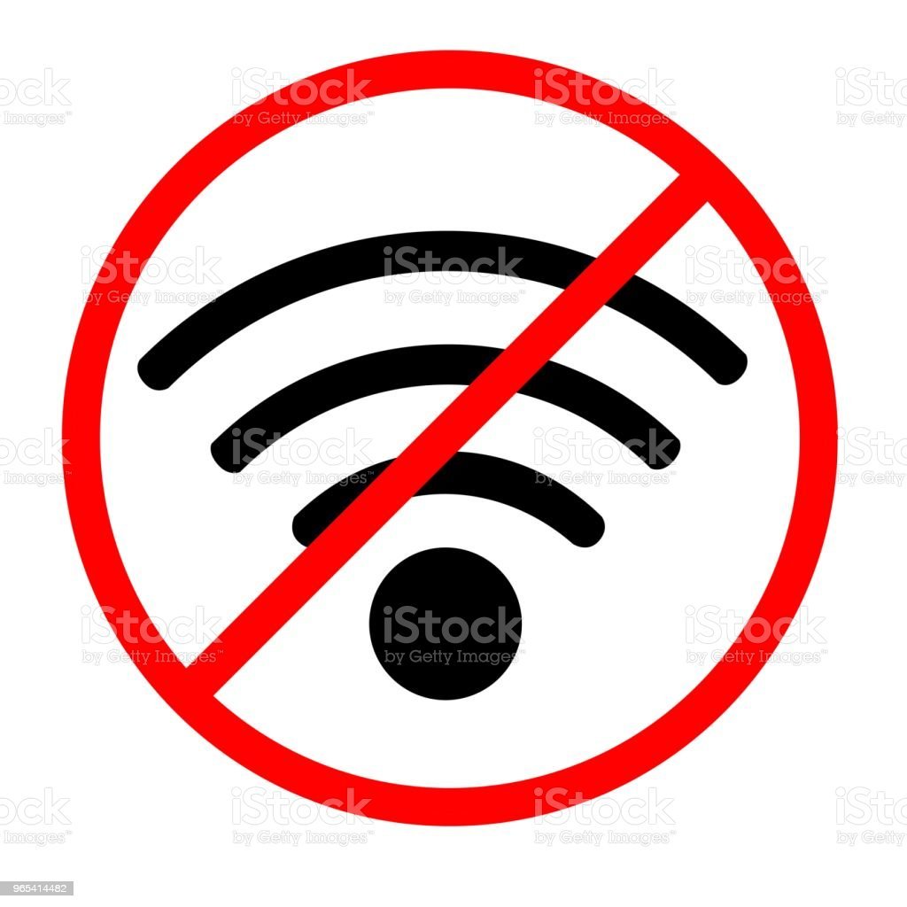 Label, Sticker or sign for No Wireless Internet Connection label sticker or sign for no wireless internet connection - stockowe grafiki wektorowe i więcej obrazów błagać royalty-free