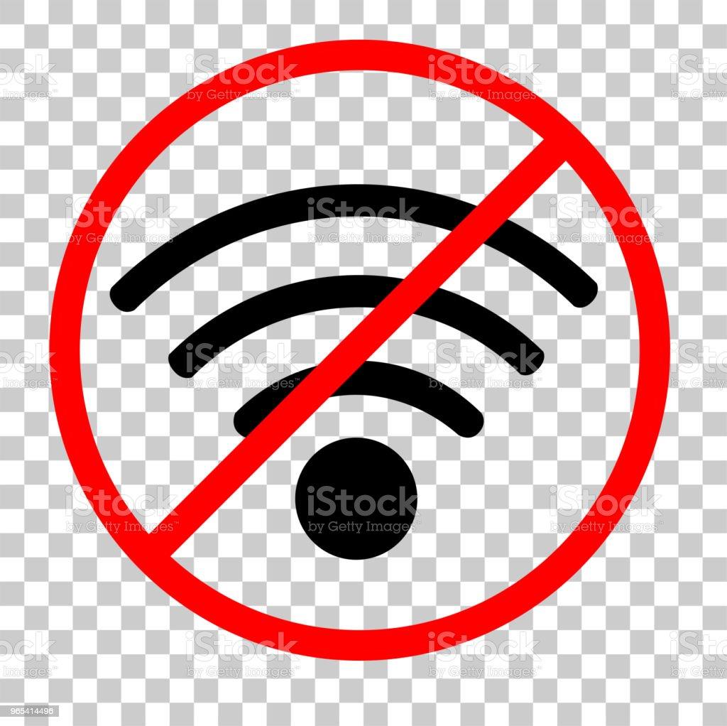 Label, Sticker or sign for No Wireless Internet Connection label sticker or sign for no wireless internet connection - stockowe grafiki wektorowe i więcej obrazów błagać royalty-free