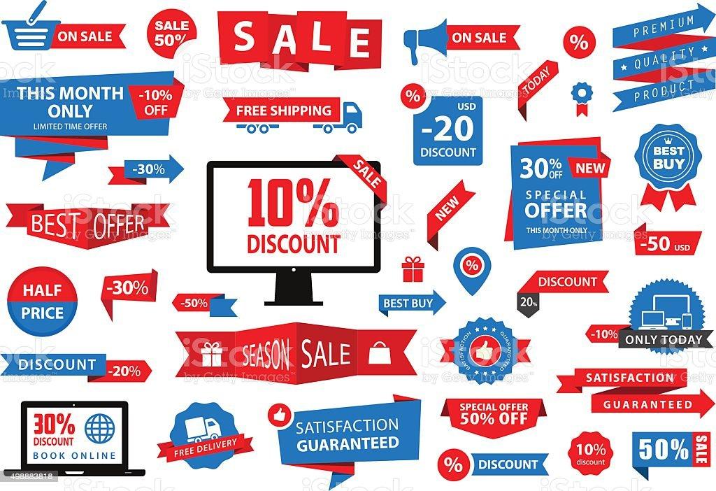 Label Tag Banner Sale vector art illustration