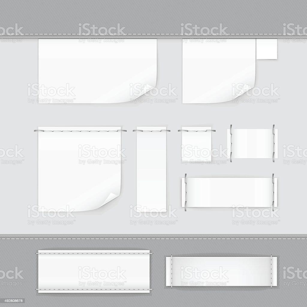 Label etiqueta Stitch conjunto de vetor isolado branco - ilustração de arte em vetor