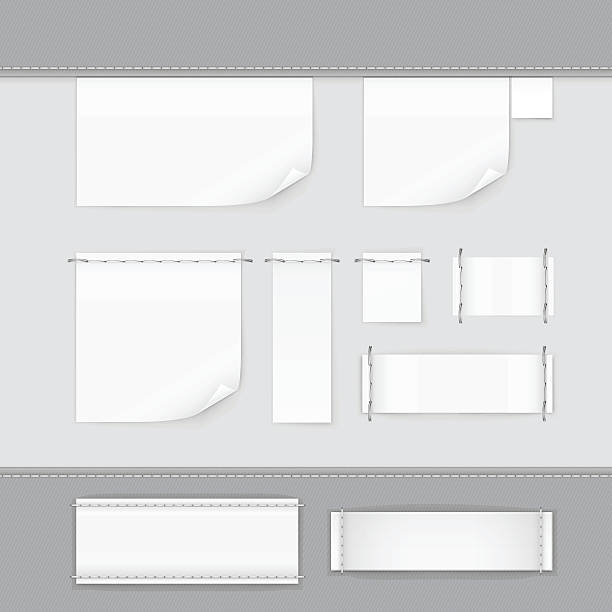 Label Tag Stitch Set White Vector Isolated Label Tag Stitch Set White Vector Isolated label stock illustrations