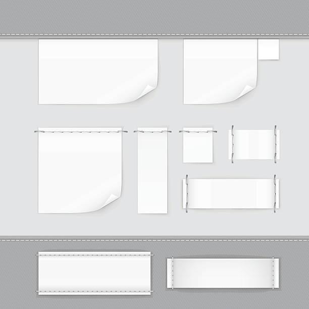 label tag stitch set white vector isolated - 衣服 幅插畫檔、美工圖案、卡通及圖標