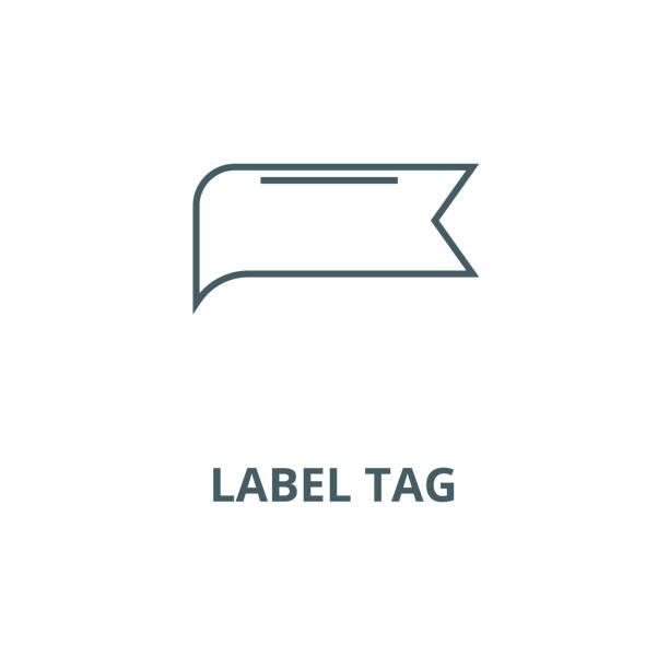 etiket etiket vektör çizgi simgesi, doğrusal kavram, anahat işareti, sembol - sale stock illustrations
