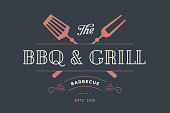 Label template for meat restaurant