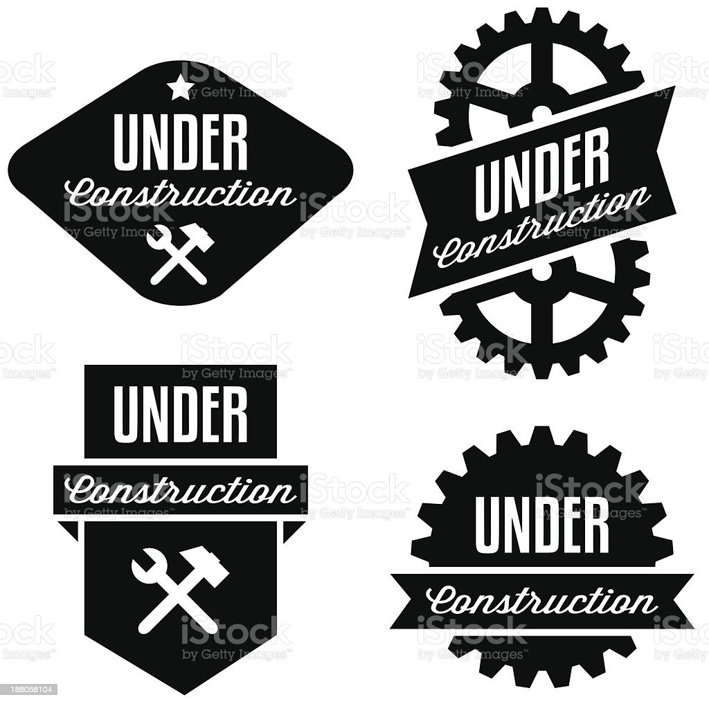 label under construction royalty-free stock vector art