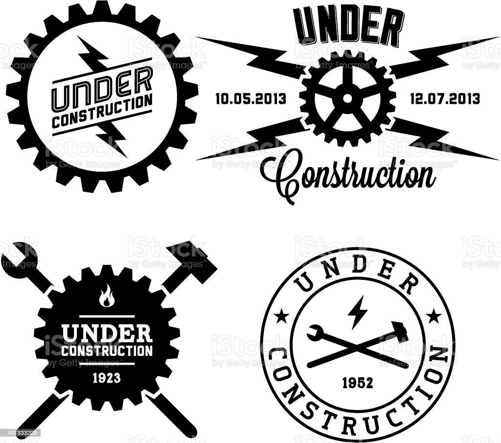 label under construction royalty-free stock vector art