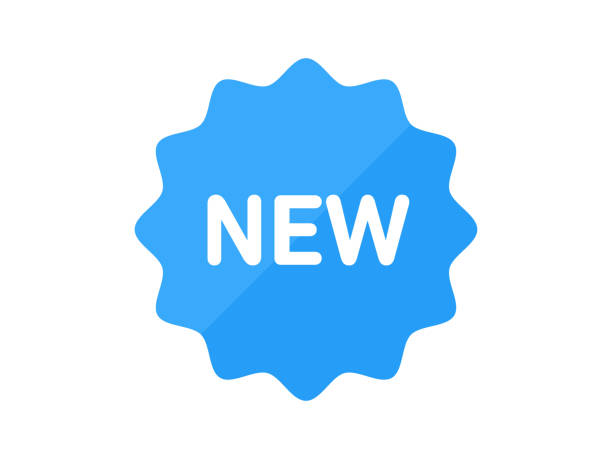 ilustrações de stock, clip art, desenhos animados e ícones de label - new