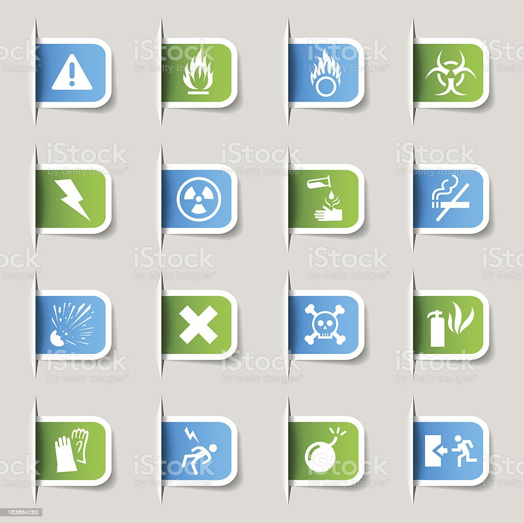 Label - Warning and Danger Icons royalty-free stock vector art