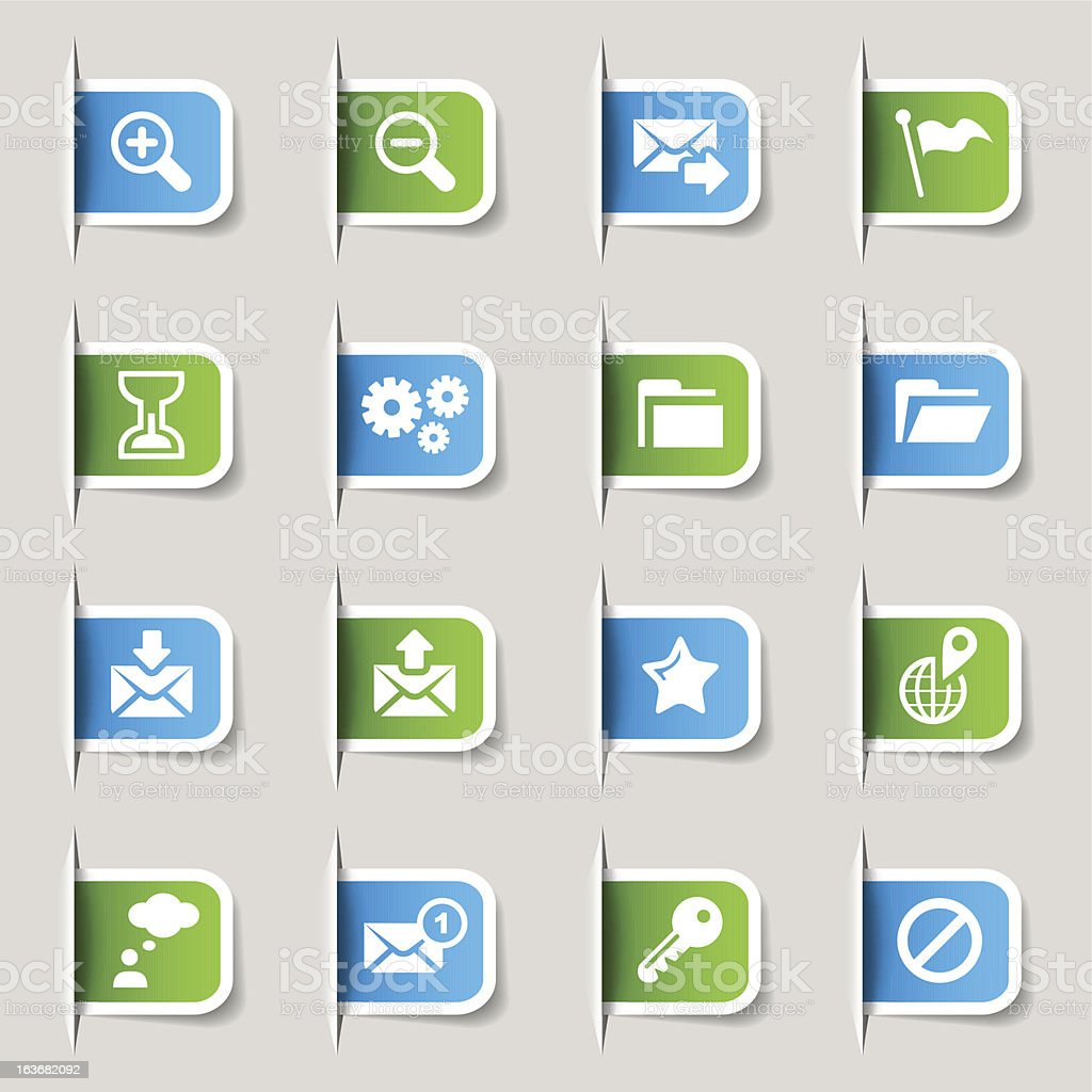 Label - Website and Internet Icons vector art illustration