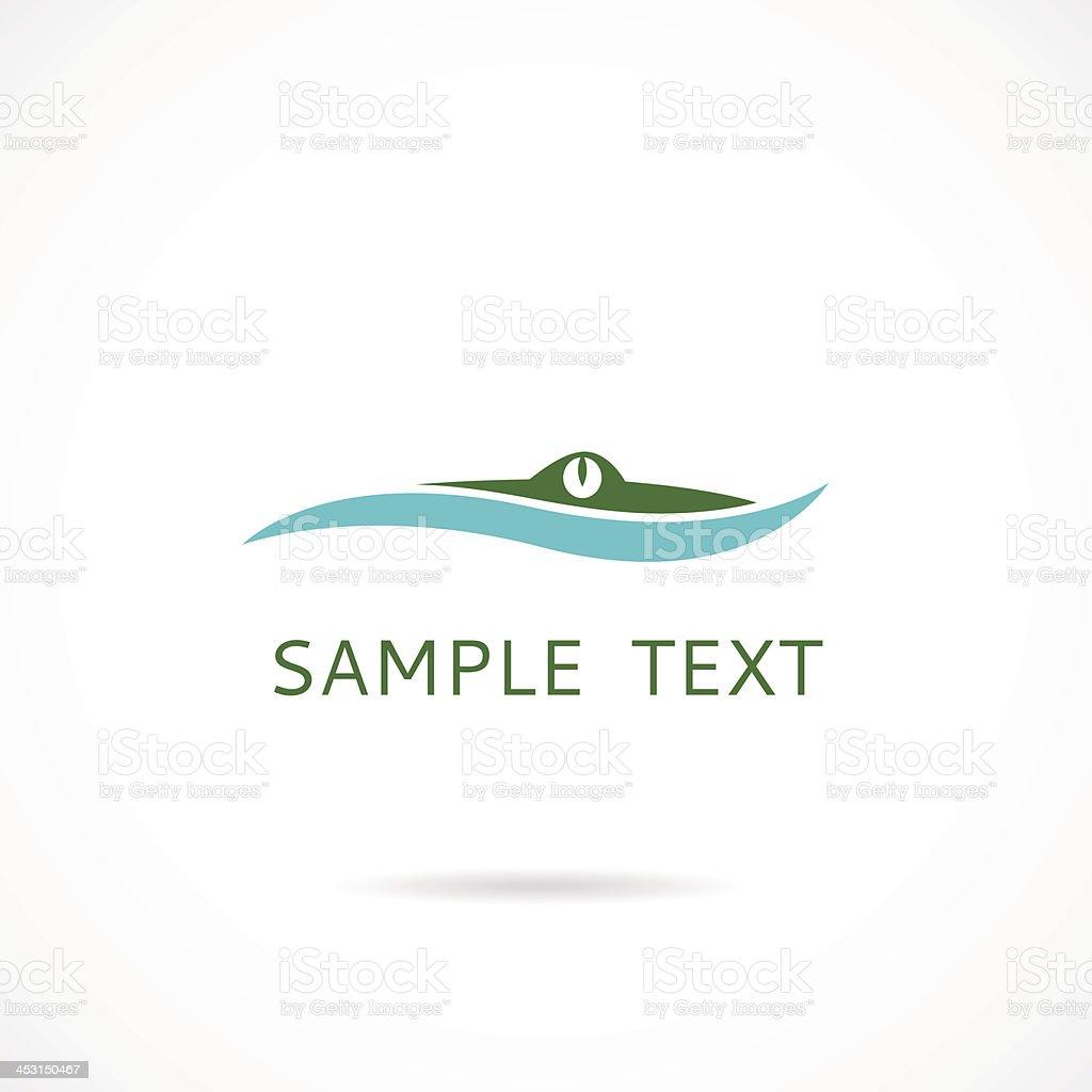 Label with Alligator - vector illustration vector art illustration