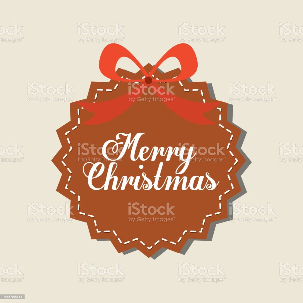 label with bowtie icon. Merry Christmas design. Vector graphic royalty free label with bowtie icon merry christmas design vector graphic stockvectorkunst en meer beelden van bedekken