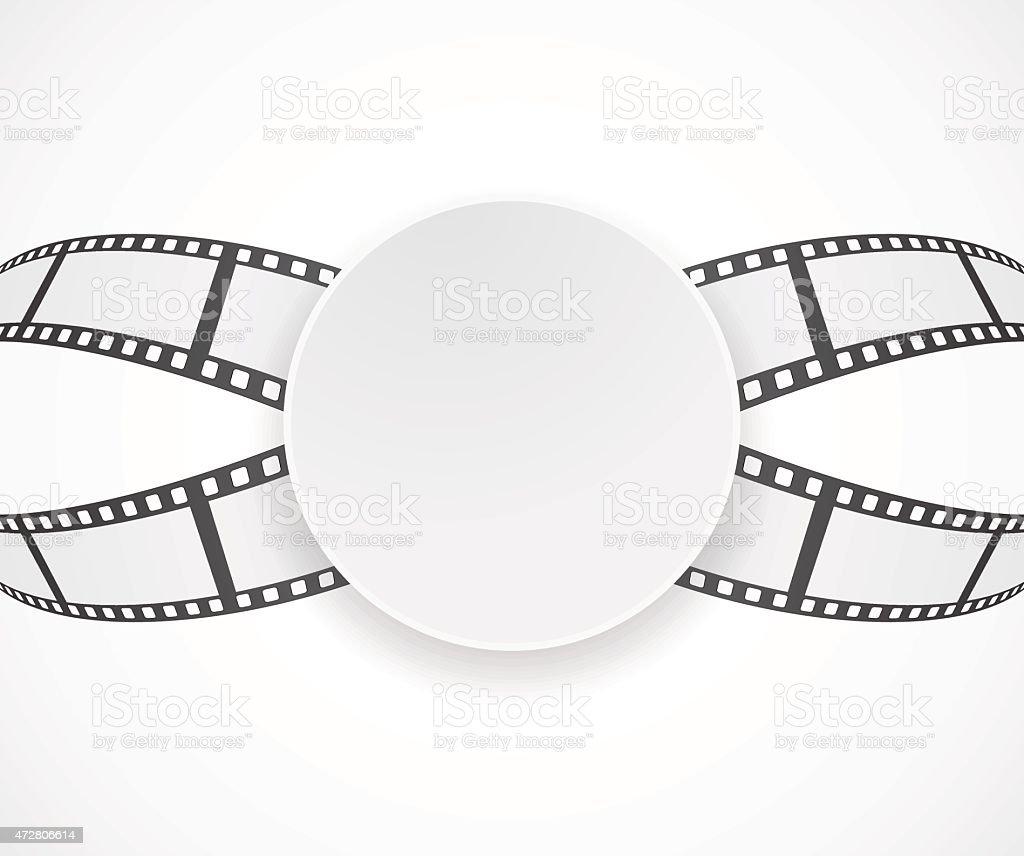 label with film roll strip background banner design