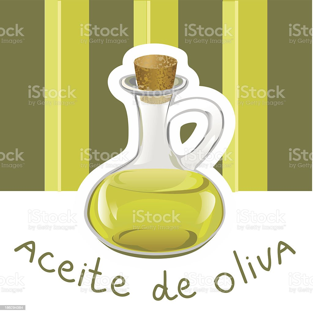 label with olive oil royalty-free stock vector art