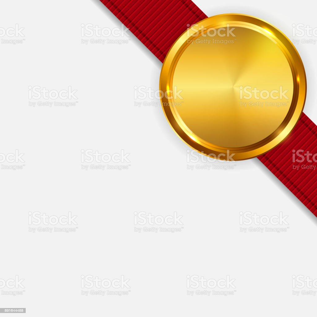 label with ribbon template isolated on light background vector