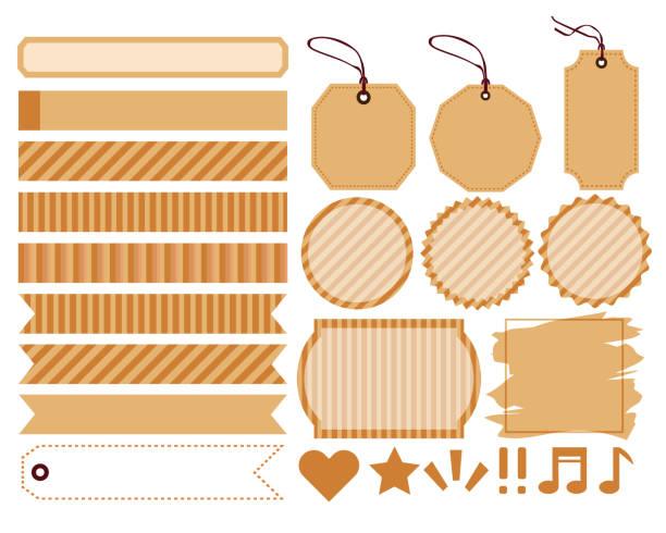 label ribbon tag label ribbon tag masking tape stock illustrations