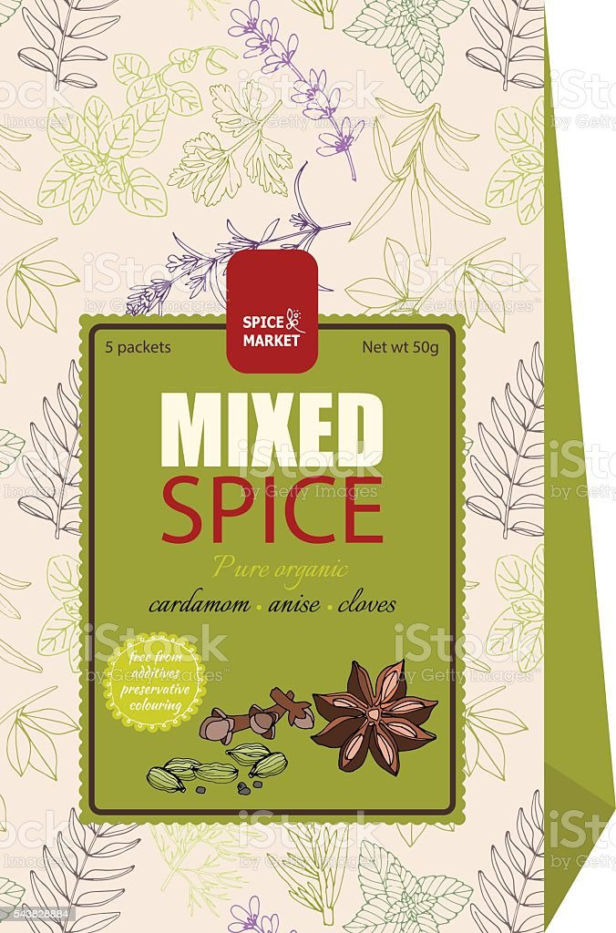 Labels And Packaging Design For Food 2 Stock Illustration