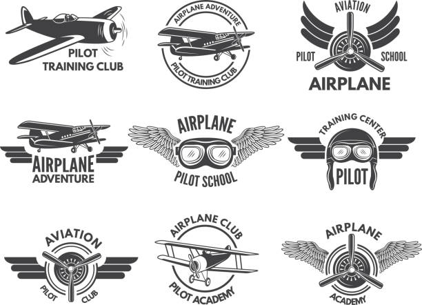 Best Pilot Wings Illustrations, Royalty-Free Vector Graphics & Clip