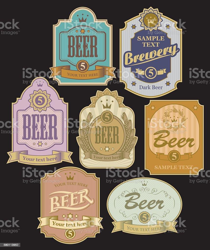 labels for beer vector art illustration