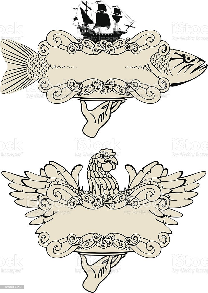 labels for fish and birds royalty-free labels for fish and birds stock vector art & more images of animal body part