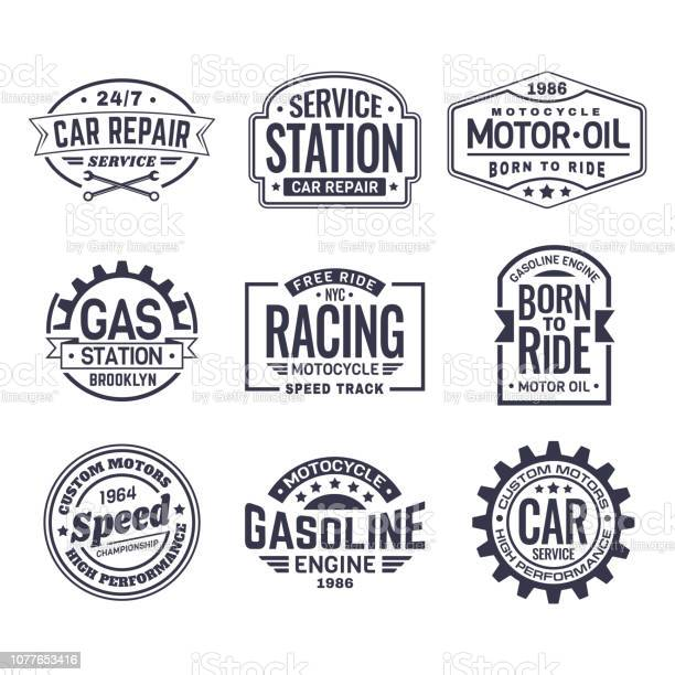 Labels for gas stationcar repair serviceracing vector id1077653416?b=1&k=6&m=1077653416&s=612x612&h=quznut uxew2zb0phqkgotgjnzkkckdnttyflusaoim=