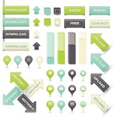 Vector set of labels and other elements for infographic - eps 10 with transparencies and blends