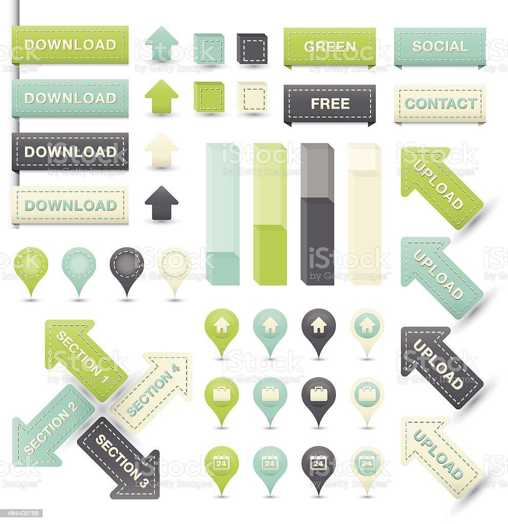 Labels for infographic vector art illustration