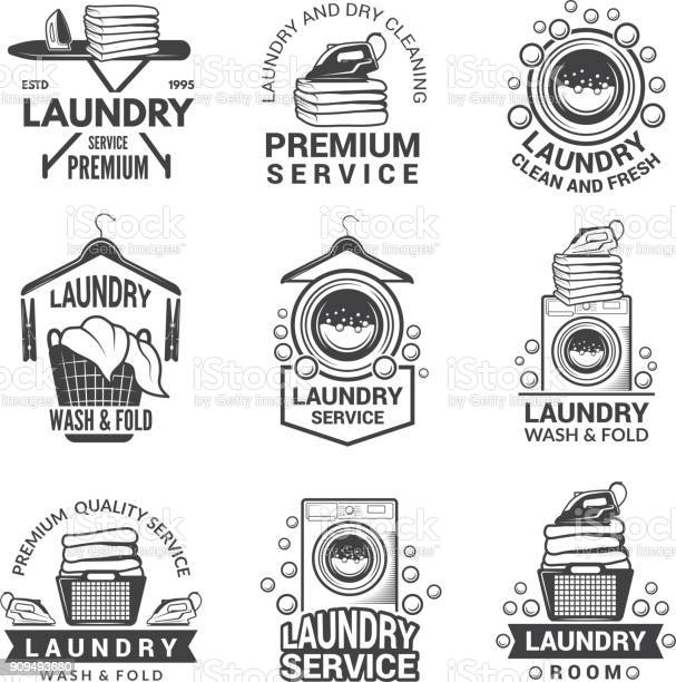 Labels for laundry service vector monochrome pictures vector id909493680?b=1&k=6&m=909493680&s=612x612&h=qmwesjsnxqi1irlfwmzgv3fvsruljbjei5uedcnklf0=