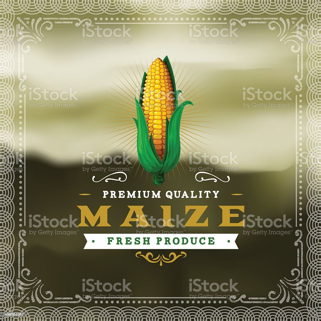 F&B Labels - Maize vector art illustration