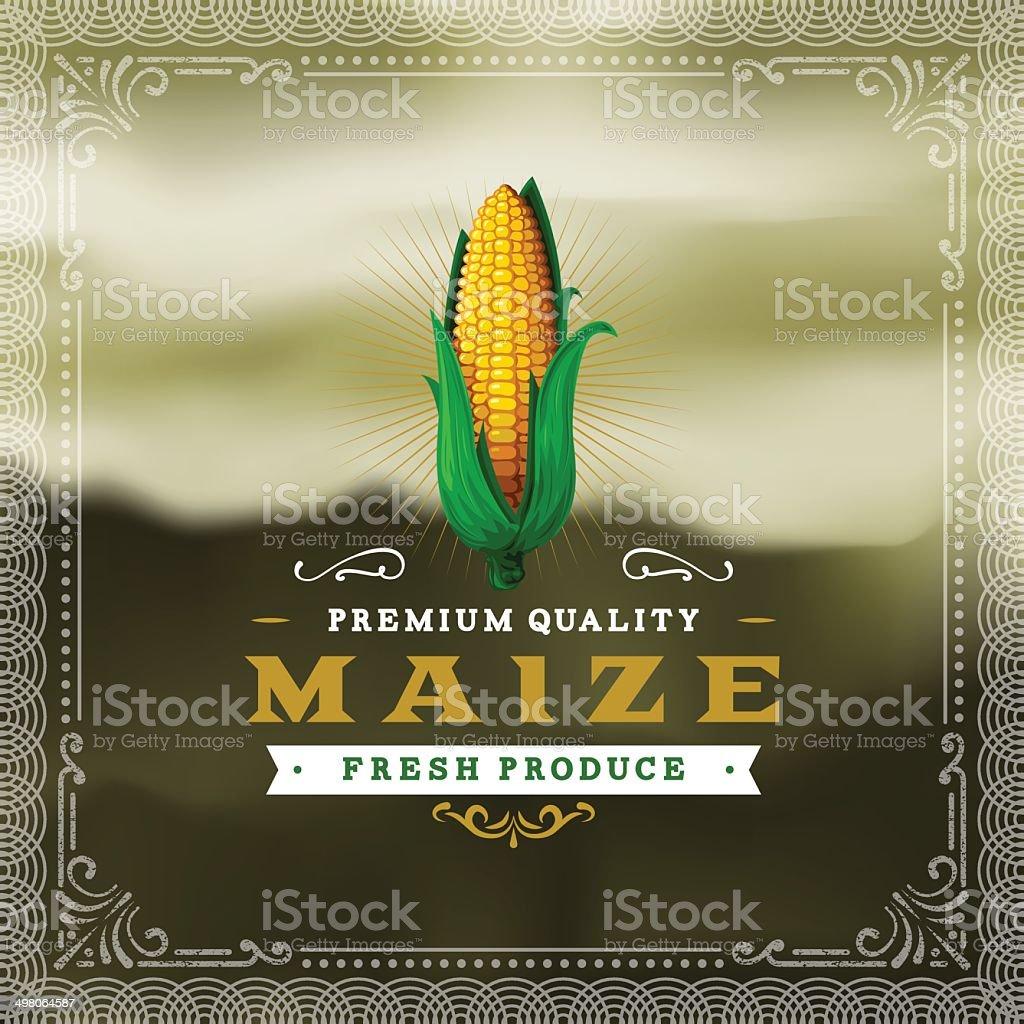 F&B Labels - Maize vector art illustration
