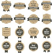 Labels, badges. EPS8. Each element is grouped in a separate layers. Easy to edit.