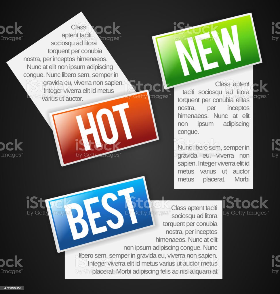 Labels with text field royalty-free stock vector art