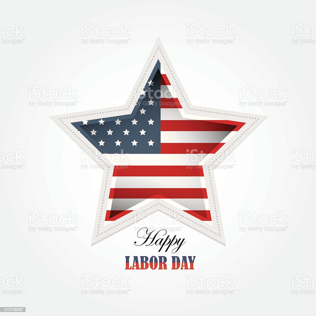 labor day american flag star shaped vector wallpaper