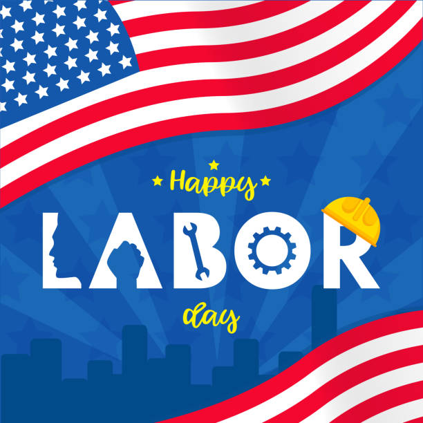 Labor day background design vector template graphic or banners  illustrations Labor day background design vector template graphic or banners  illustrations labor day stock illustrations