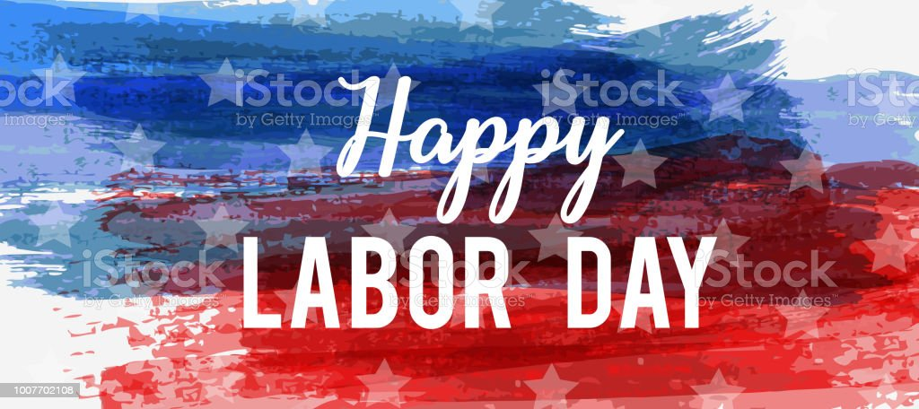 USA Labor day background vector art illustration